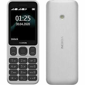 BRAND NEW NOKIA 125 DUAL SIM 4GB WHITE UNLOCK Classic Mobile