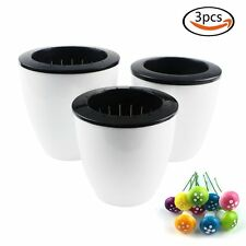 3 Pcs white Self Watering Plant Plastic Flower Pot 10pcs Mushroom