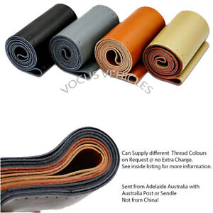 Kia Sedona, Sorento & Spectra - 100% Genuine Leather Steering Wheel Cover