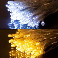 LED Lichterkette Weihnachten Beleuchtung 10/20/30/50/100 LEDs Party Deko Leuchte