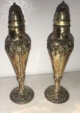 William Iv Silver Plated Salt & Pepper Shakers