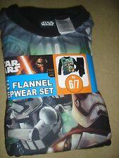 NEW Disney Star Wars boys 6/7 flannel pajamas pjs 2 pc set Storm Trooper