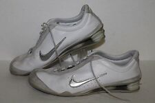Nike Shox Rival Running Shoes, #312563-102, Wht/Slvr/Gry, Leather, Womens US 8.5