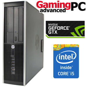 Gaming PC HP 8300 Quad Core 8GB GTX 1050 WiFi Windows 10 Desktop PC Computer