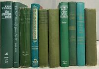 Lot of 10 RANDOM / MIXED Vintage Green, Olive, Forest Decor Books, Shelf Decor