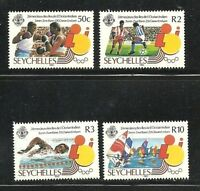 Album Treasures Seychelles Scott # 572-575 Indian Ocean Islands Games Mint NH