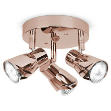 Unique Modern Polished Copper 3 Way Ceiling Spot Light Spotlight Fitting Lights