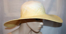 CALVIN KLEIN Tan Ombre Straw Adjustable UPF 40 Sun Hat SunHat NEW