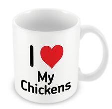 I Love MY CHICKENS Mug Heart Gift Idea Christmas Funny Coffee cup eggs