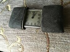 Movado  mechanical  Travel / purse watch Solid sterling Silver Art Deco