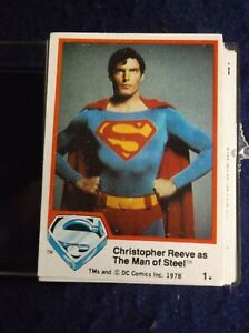 1979   SUPERMAN THE MOVIE  NEAR CARD SET  71/76 SERIES 1 +1 UNOPENED PACK