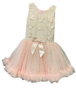 Popatu Girls' Sleeveless Tutu Dress Special Occasion Holiday Party Dress Variety