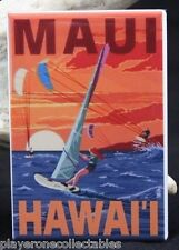 "Maui Vintage Travel Poster 2"" X 3"" Fridge / Locker Magnet. Hawaii"
