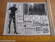1980's ORIGINAL Punk Rock concert poster Psychobud Cathay de Grande Christmas CA