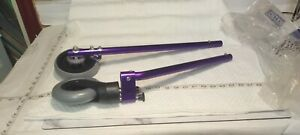 "Replacement Wheel Legs for Purple Chrome Walker 20"" x 4-1/2"" Dia Wheel"