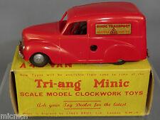 "TRI-ANG MINIC ""PUSH & GO"" MODEL  No.99M  AUSTIN ""A40"" MINIC TRANSPORT VAN    MIB"