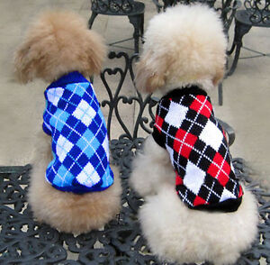 pet cat dog clothes winter knitting sweater jumper Coat Knitted Puppy clothing