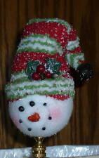 Sweet Snowman Lamp Finial Hand made