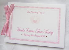 PERSONALISED BABY FEET CHRISTENING / NAMING DAY/ BAPTISM  GUEST BOOK
