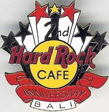 Hard Rock Cafe BALI 1995 2nd Anniversary STAFF PIN HRC LOGO STARS & BANNER #661