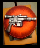 1 STAR WARS ANH Han Solo DL44 Blaster  Movie Prop Replica 1/1 Scale Blaster**