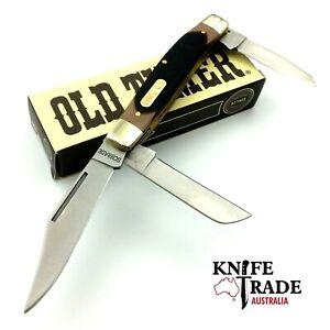 Schrade Old Timer 3BLD Senior 8OT Stockman Folding Pocket Hunting Camp Knife EDC