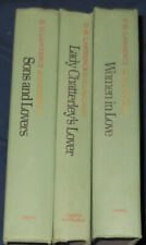 D.H. LAWRENCE Lady Chatterley's Lover Sons & Lovers Women in Love 3 Book Lot