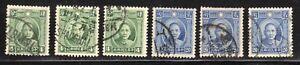 China 1931 SC# 292, 293 - Dr. Sun Yat-sen - 6 Stamps Used Lot # 309