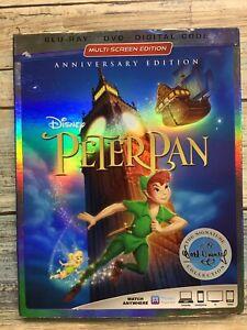 Walt Disney Peter Pan The Signature Collection Blu-Ray/DVD Anniversary Edition!!