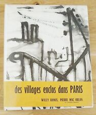 WILLY RONIS - BELLEVILLE MENILMONTANT - 1954 1ST EDITION HARDCOVER WDJ & OBI