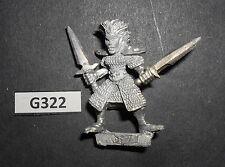 WARHAMMER MARAUDER metallo mm70 DE07 FEMMINA DARK ELF CON SPADA & COLTELLO G 322