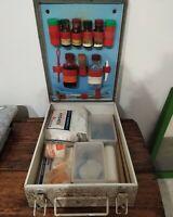 Antica Vecchia Cassetta Pronto Soccorso Strumenti Medici Vintage