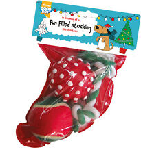 GOOD BOY CHRISTMAS FUN FILLED DOG PUPPY TOY STOCKING 2 BALLS AND ROPE XMAS GIFT