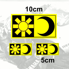 x3 Valentino Rossi Sticker SUN and MOON Vinyl Decal (Y)