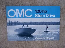 1972 OMC Stern Drive Owner Manual 125  HP  MORE MARINE MANUALS IN OUR STORE  S