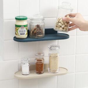 Wall-Mount Bathroom Shower Shelf Rack Home Kitchen Storage Organizer Holder Rack