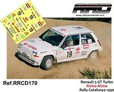 DECAL/CALCA 1/43; Renault 5 GT Turbo; Alsina-Alsina; Rally Catalunya 1990