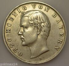 3 Mark Silbermünze dt. Kaiserreich 1910  D - Otto König von Bayern