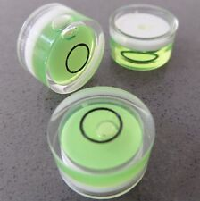 3 Small Bubble Spirit Level Bulls Eye Vial Round 15mm Diameter