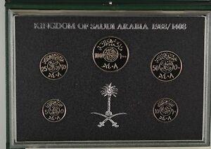 SAUDI ARABIA 1988 5 COIN PROOF SET - complete