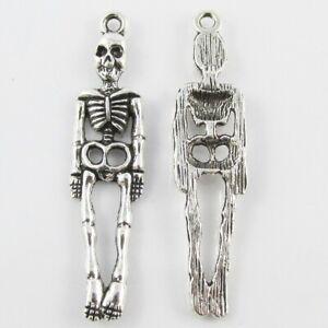 Bulk Skeleton Charm Pendant Human Anatomy Halloween 39x9mm Select Qty