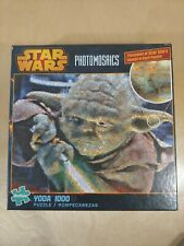 Star Wars Photomosaics 1000 Piece Puzzle  Yoda w/ 1000's images. Buffalo