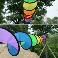 1PC Rainbow Spiral Windmill Tent Colorful Wind Spinner Garden Home Decorations