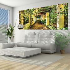 VLIES Fototapete Tapete Poster Bild Tapeten GARTEN PERGOLA BLUMEN 3FX2296VEP