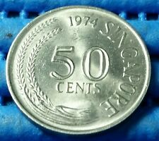 1974 Singapore 50 Cents Lion Fish Coin
