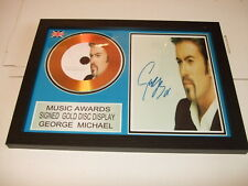 GEORGE MICHAEL   SIGNED  GOLD  DISC  Y