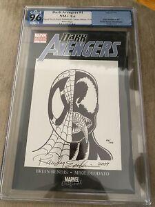 Dark Avengers #1 SIGNED Spider-Man Sketch Variant 9.6 Randy Emberlin