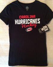 NHL Carolina Hurricanes Hockey Girl's V-Neck Tee - T-Shirt - Size: Large 10/12