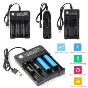 Chargeur de batterie lithium Li-ion rechargeable intelligent pour 18650 18500