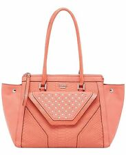 GUESS Tough Luv Tawny Satchel Handbag Shoulder Bag Tote PY452309 Tangerine Nwt